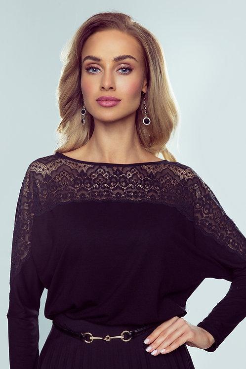 Katie חולצת שרוול ארוך בשילוב תחרה