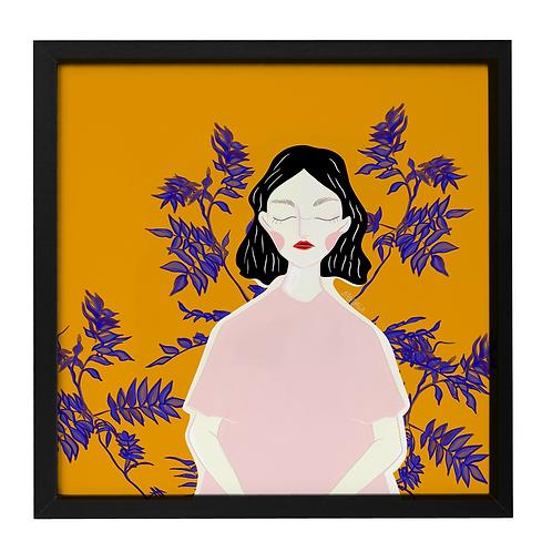 """""""Femme et les plantes"""" 30x30cm"""