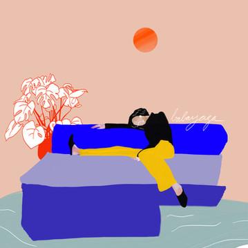 Le canapé d'angle ( que je n'ai pas )