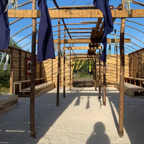 Teachings Lodge During Construction