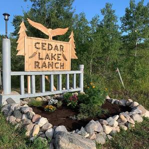 Cedar Lake Ranch Sign