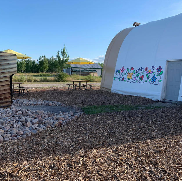 The Sweat Lodge Building Freshly Painted