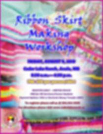 Ribbon Skirts Making POSTER ewf Aug 9 20