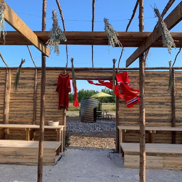 Entrance to Teachings Lodge