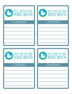 PUT ME IN THE KIDS BATH