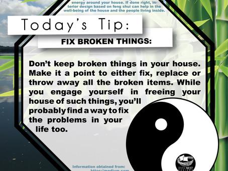 DIY Feng Shui - Fix Broken Things