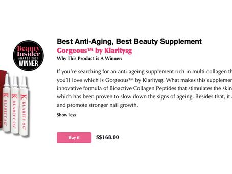 Best Anti-Aging, Best Beauty Supplement - Gorgeous™ by Klarity SG