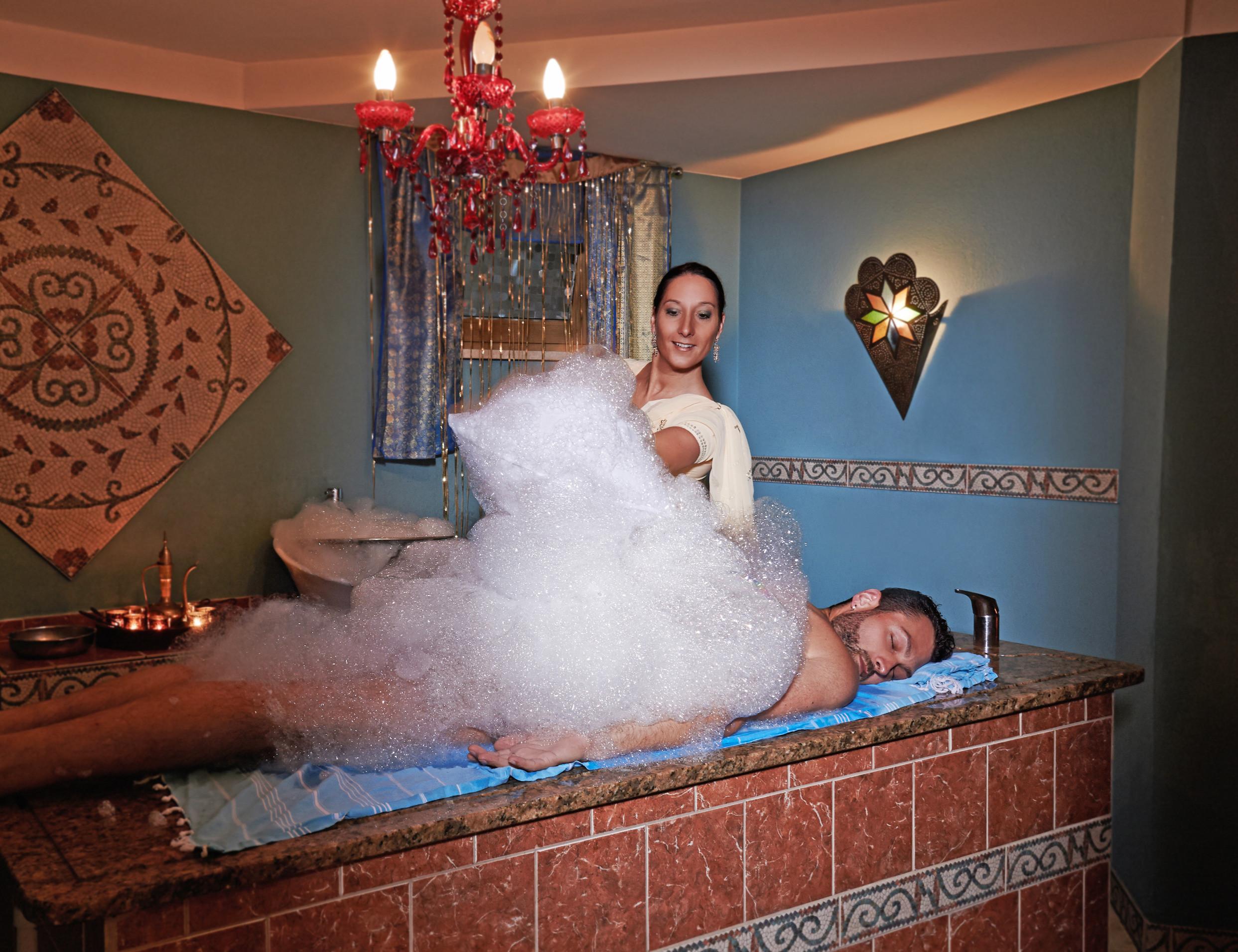 Seifenschaum Massage