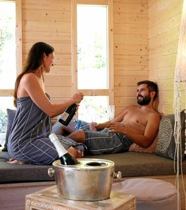 Romantik im Sauna Cottage 1