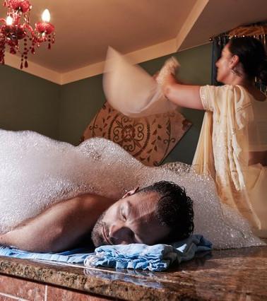 Orientalische Seifen Schaum Massage