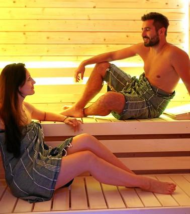 Private Farblicht Sauna