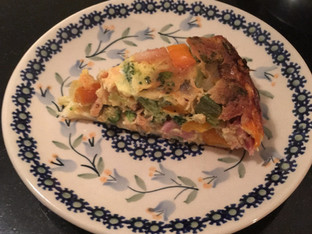 Cheese-crusted Quiche