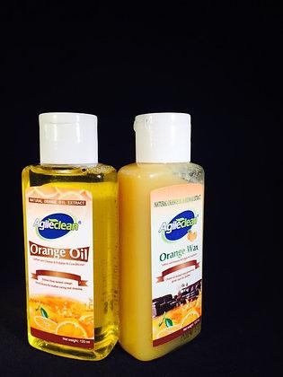 Orange Wax + Orange oil combo (120ml)