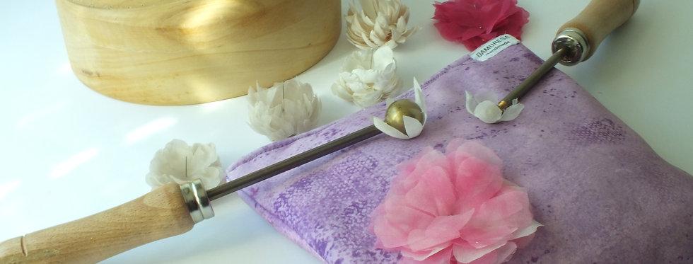 Almohadilla para dar forma a flores artesanales