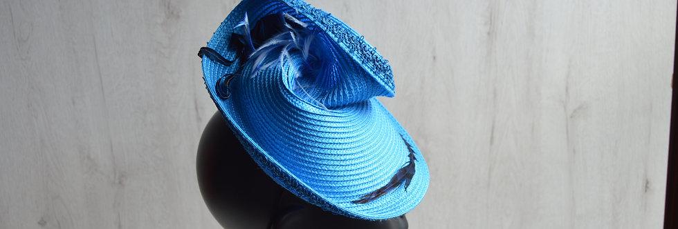 Tocado tipo sombrero Blue