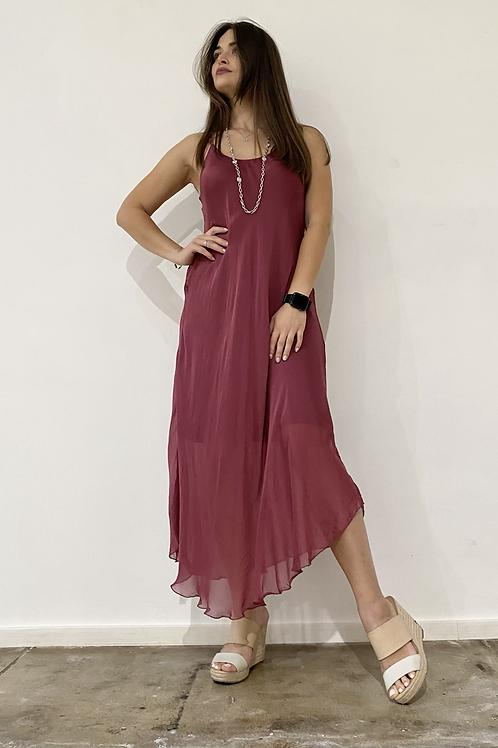 Silk Raspberry dress