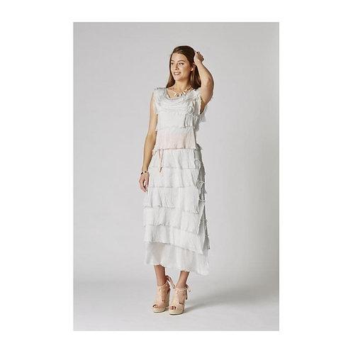 Long Layered Italian Silk Dress