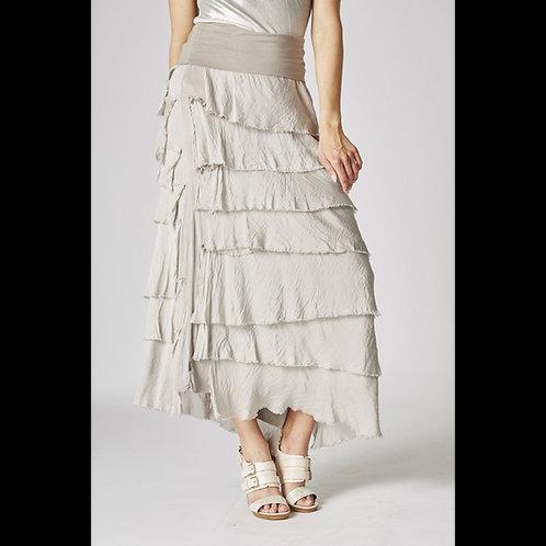 Italian layered silk skirt