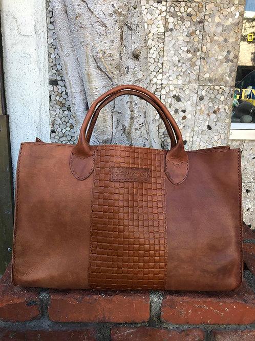 Brandy Craftsmanship Leather Tote