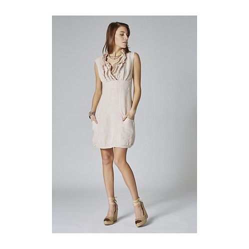Amelia Dress V neck with ruffled details