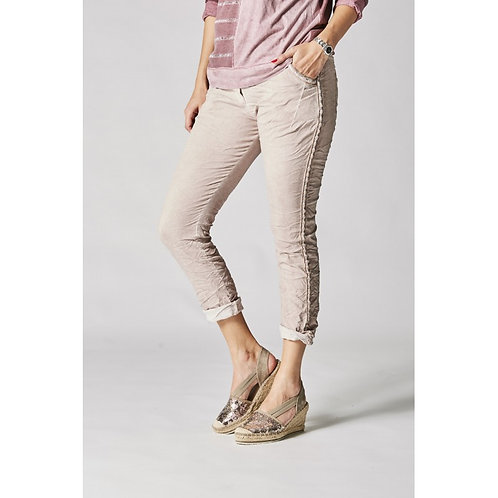 Italian Jeans With Silver Side Stitch