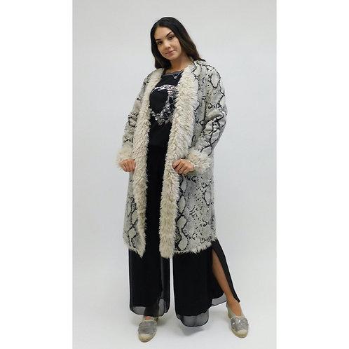 Snakeskin Long Coat