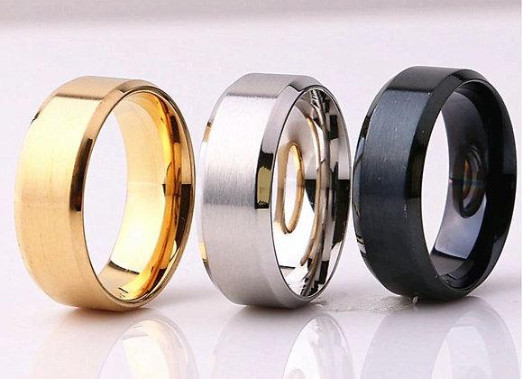 Edelstahl Ring gerundet 8mm