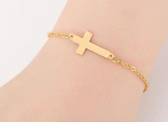 """Kopie von Edelstahl Armband """"Kreuz"""""""