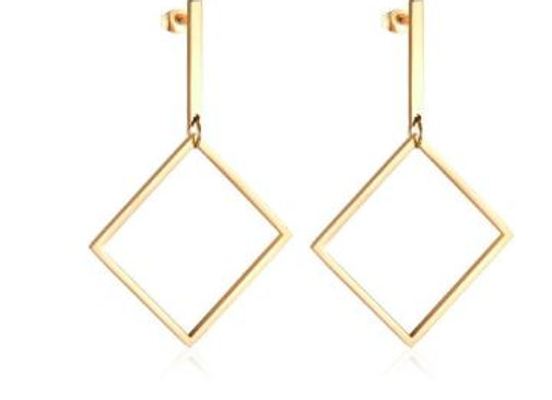 Edelstahl - quadrat vergoldet