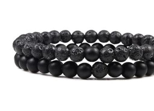 Lava Stein & matt schwarz