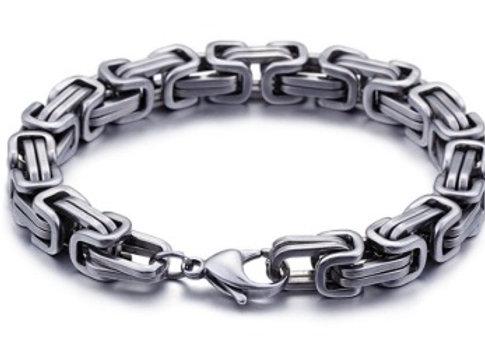 Edelstahl Königs Armband 10mm