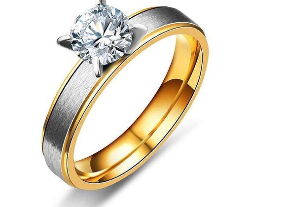 Edelstahl Ring mit Stein