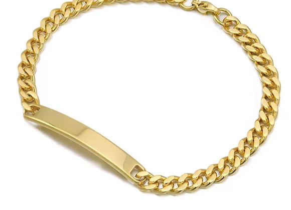 Edelstahl Armband für Frauen 5mm breit