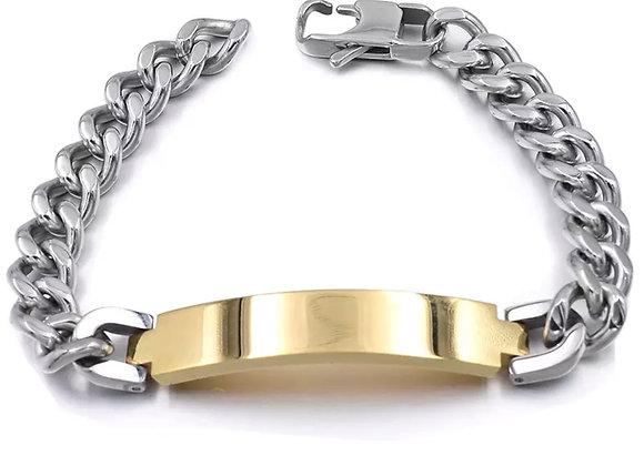 Panzer Armband gold - silber
