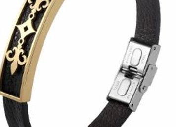 Leder Armband mit Lilien