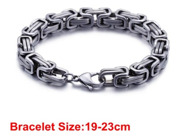 Edelstahl Königs Armband 4mm