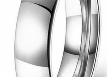 Edelstahl Ring 6mm- Silber