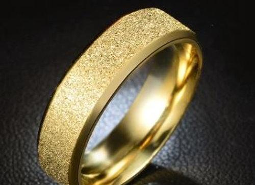 Edelstahl Ring - Gold glitzernd