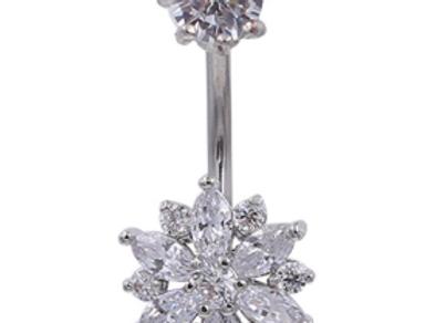 Silberne Blume