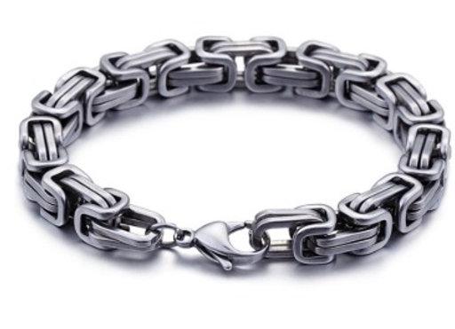 Edelstahl Königs Armband 6mm