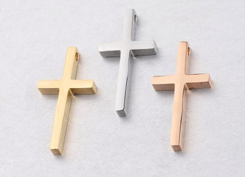 Edelstahl Kreuz mit Kette