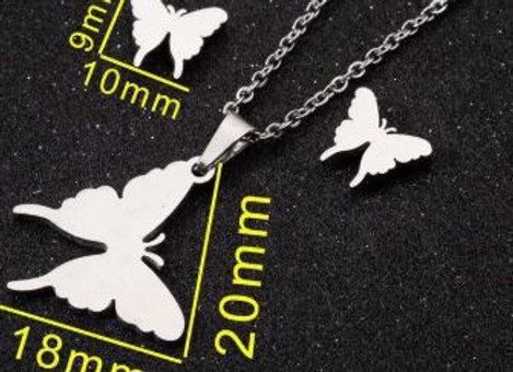 Edelstahl Set - Schmetterling