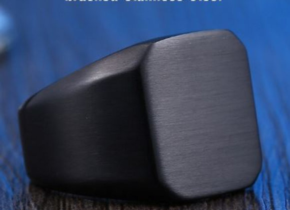Edelstahl Siegelring schwarz