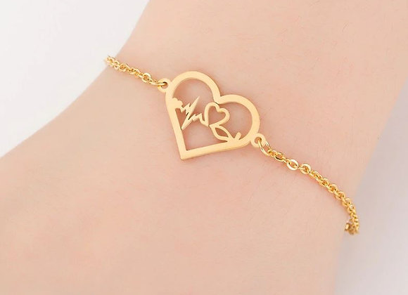 """Edelstahl Armband """"Heart with beat"""""""
