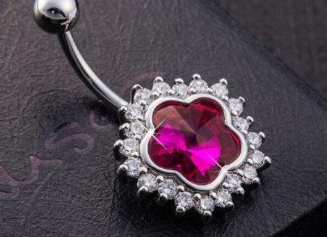 Kopie von Elegant mit pinkem Stein