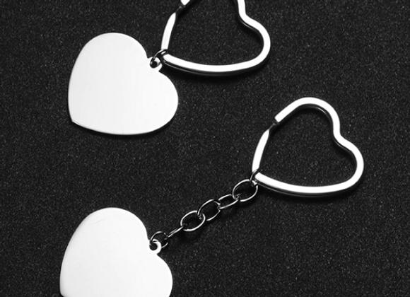 Edelstahl Herz Schlüsselanhänger