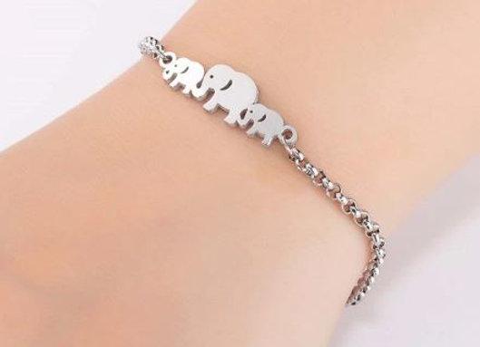 """Edelstahl Armband """"Elefant"""""""