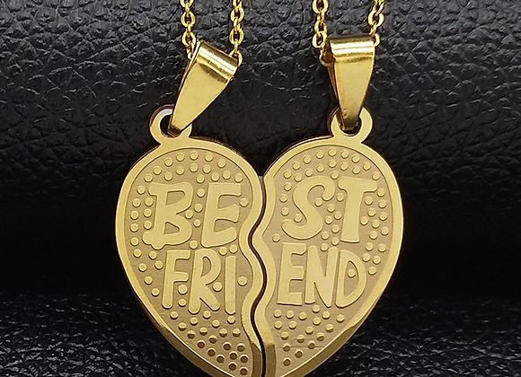 Edelstahl Doppelherz - Best Friend
