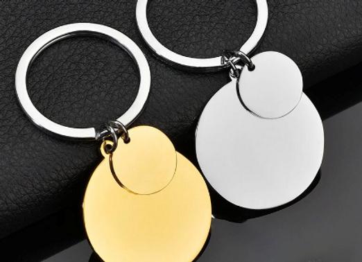 G - Schlüsselanhänger mit runder Platte