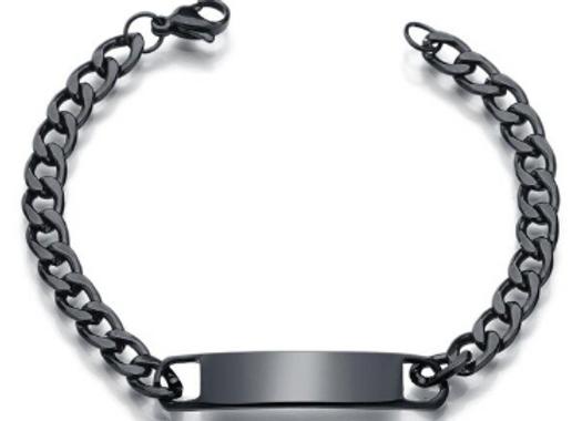 Edelstahl Armband Schwarz
